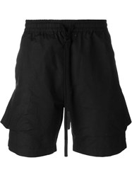 Lost And Found Drawstring Shorts Black