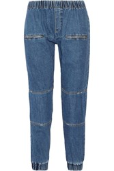 Sea Mid Rise Tapered Jeans Blue