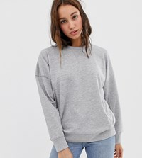 New Look Tall Balloon Sweatshirt Grey