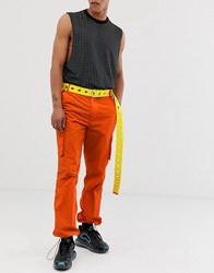 Jaded London Cargo Trousers With Pockets In Orange