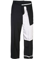 Monse Capri Trousers With Patchwork Black