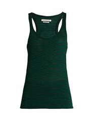 Etoile Isabel Marant Avien Linen And Cotton Blend Tank Top Green