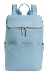 Matt And Nat Loom Brave Faux Leather Backpack Blue Sky