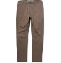 Isabel Benenato Cotton Twill Trousers Neutral