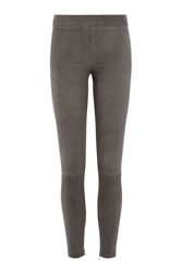 Vince Suede Leggings Green