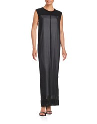 Dkny Silk Maxi Dress Black