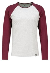 Your Turn Long Sleeved Top Mottled Light Grey Bordeaux