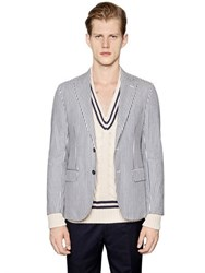 Massimo Piombo Striped Cotton Jacket