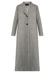 Isabel Marant Duard Wool Coat Light Grey