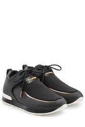 Balmain Sneakers With Leather Black