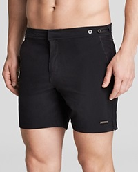 Parke And Ronen Catalonia Houston Solid Stretch Swim Trunks