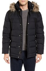 Spyder Men's Garrison Water Repellent Down Jacket With Faux Fur Trim