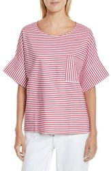 Public School 'S Amos Stripe Top Red Stripe