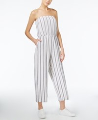 Bar Iii Strapless Wide Leg Jumpsuit Only At Macy's Washed White