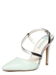 Dorothy Perkins High Heel Open Back Pointed Courts Mint