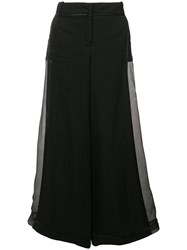 Andrea Ya'aqov Wide Leg Trousers Black
