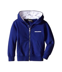 Dsquared Hoodie Sweater W Zipper Infant Blue Men's Sweatshirt