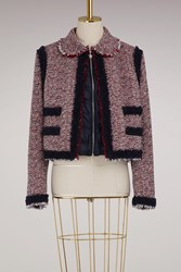 Moncler Gamme Rouge Aberdeen Wool Jacket Blue Red