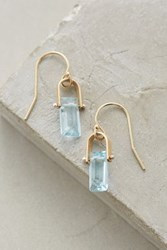 Anthropologie Sycamore Mini Drops Swiss Blue Topaz