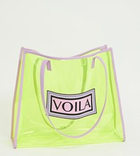 Skinnydip Voila Neon Yellow Tote Bag
