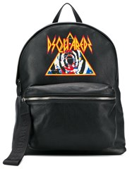 Dsquared2 Printed Logo Backpack Black