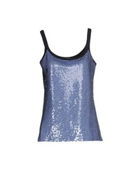 Vdp Club Topwear Tops Women Blue