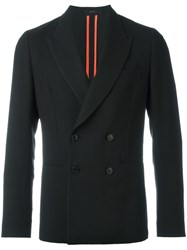 Paul Smith Double Breasted Peaked Lapels Blazer Black