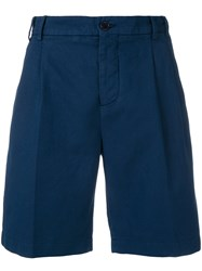 Aspesi High Waist Chino Shorts Blue