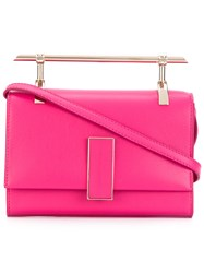 Marcel Seraphine T Bar Satchel Women Calf Leather One Size Pink Purple