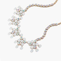 J.Crew Crystal Chandelier Necklace White