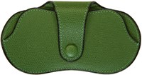 Valextra Green Leather Glasses Case
