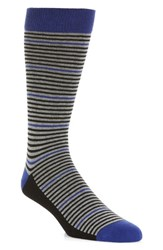 Ted Baker Men's London Pinstripe Socks Blue