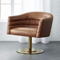 Cb2 Cupa Leather Chair