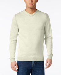 Tommy Bahama Men's V Neck Ribbed Trim Sweater Bitter Lime