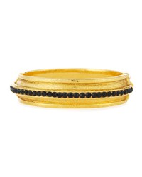 Jose And Maria Barrera 24K Gold Plated Bracelet With Jet Black Crystals