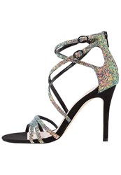 Faith Lizzie High Heeled Sandals Metallic Metallic Grey