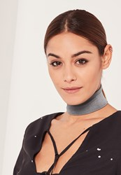 Missguided Fabric Choker Grey