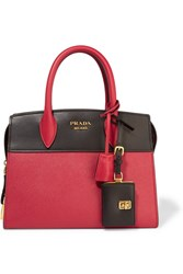 Prada Esplanade Small Two Tone Textured Leather Tote