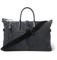 Tod's Leather Trimmed Suede Holdall Navy