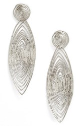 Gas Bijoux Women's 'Long Wave' Drop Earrings Silver