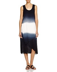 Xcvi Snapdragon Asymmetric Dress Ombre Double Dip Black