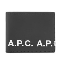 A.P.C. Logo Billfold Wallet Black