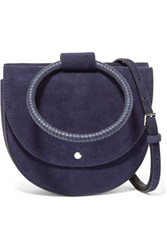 Theory Whitney Suede Shoulder Bag Navy