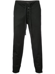 Greg Lauren Tux Slim Lounge Pants Black