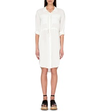 Whistles Paige Collared Shirt Dress Cream