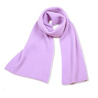 Cashmerism Chunky And Ribbed Cashmere Scarf Lavender