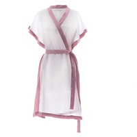 Roses Are Red Morning Quote Kimono White And Pink Pink Purple White