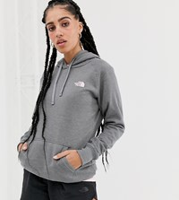 The North Face Red Box Hoodie In Gray Pink Gray