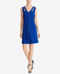American Living Tiered Jersey Dress Pacific Blue