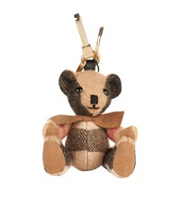 Burberry Shoes And Accessories Thomas Check Bear Charm Female Camel